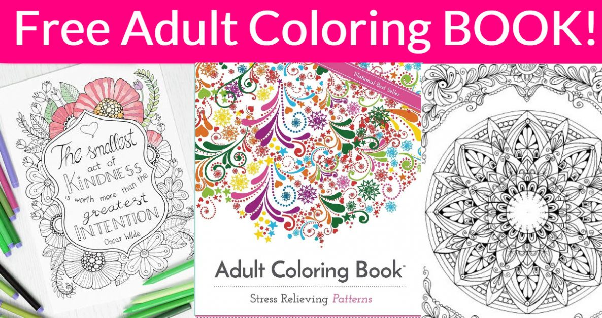 FREE 50 Page Adult Coloring Book! -  #FREEBIES
