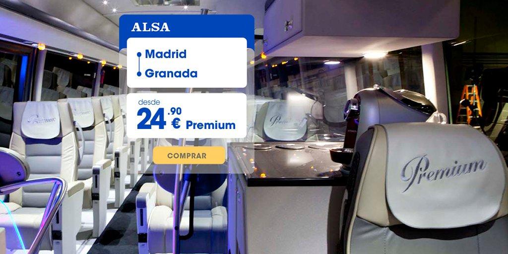 Muévete desde 24,90€ al sur en nuestro Premium.    Empieza el año descubriendo el encanto de #Granada. Reserva tu billete ahora mismo. http://socsi.in/DH2XK pic.twitter.com/iuZbRRF3ZW