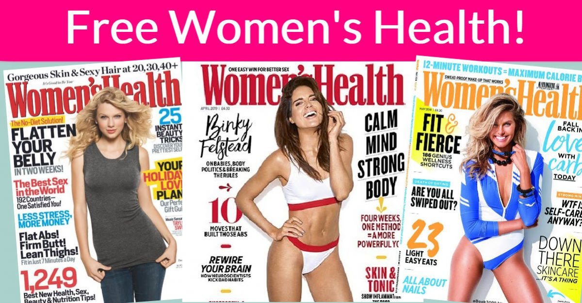 Free Women's Health Magazine Subscription - 1 YEAR ! -  #FREEBIES