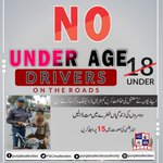 Image for the Tweet beginning: No Under Age Drivers on