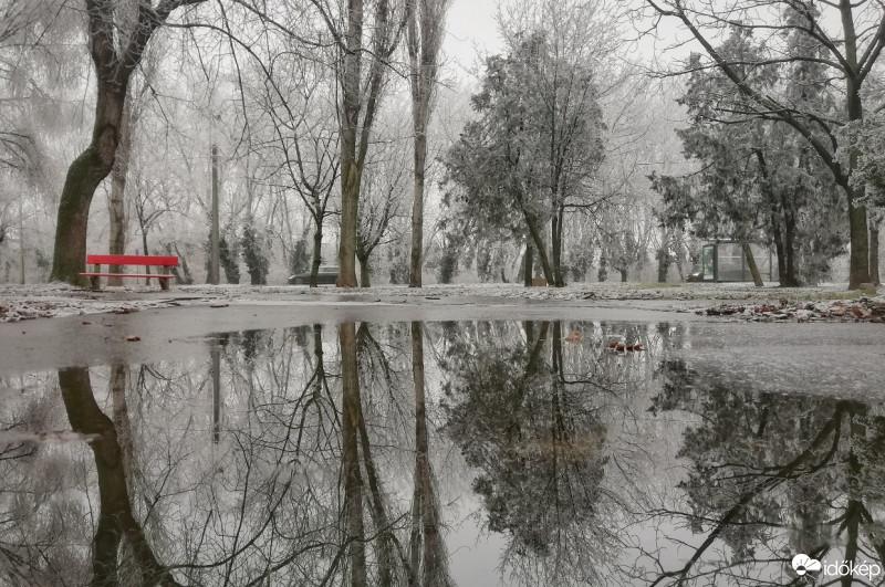 Ónos esőre kell helyenként figyelni❗️ A legtöbb helyen viszont még hó esik, néhol havas eső, nyugaton esőre vált a csapadék.❄️☂️   Fotó: Maccoyi