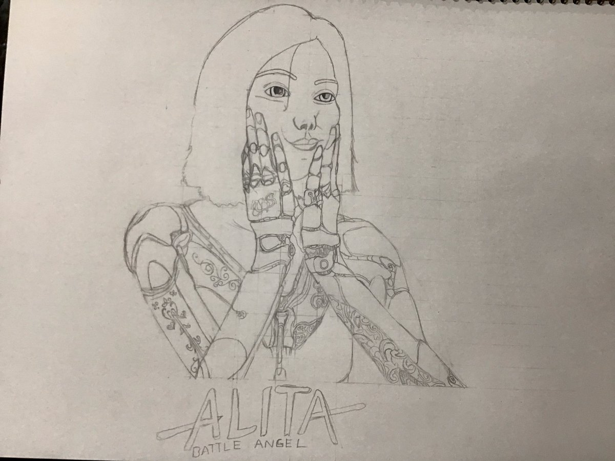 My new work in progress drawing it has taken roughly 3hr30min so far #alitaarmy #AlitaSequel <br>http://pic.twitter.com/PSrMh5GKIJ
