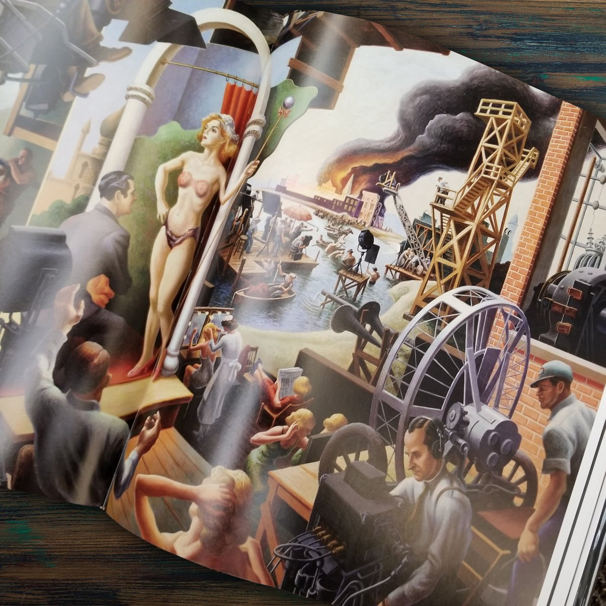 This week's art spotlight is American Epics: Thomas Hart Benton and Hollywood edited by Austen Barron Bailly. Find it at the link & visit West Wyandotte Library for more of our Fine Arts collection.  https:// soo.nr/NkUp    <br>http://pic.twitter.com/bpHHsxGZQ8