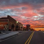 """This #SweetPhotoOfTheWeek was taken by @cobblandmarks in @visitacworth. """"Sunrise in historic downtown Acworth this morning.""""  . . Tag us or use #atlantassweetspot to share your photos with us. You may be featured next! #CobbCounty #ExploreGeorgia #DiscoverAtl #Acworthy #Sunrise"""