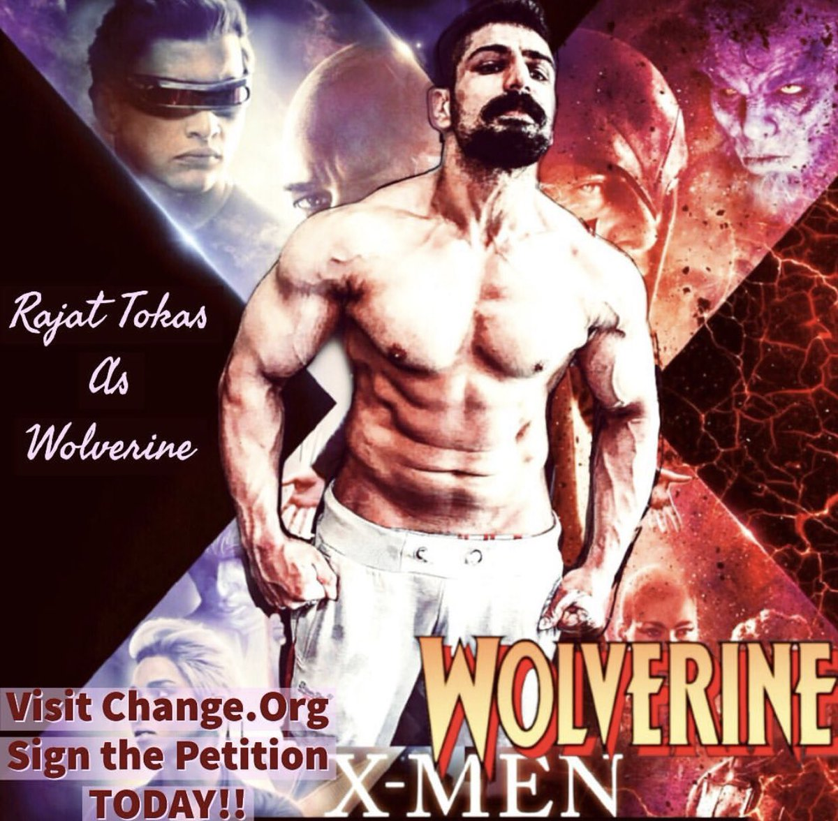 #rajattokasforwolverine #RajatTokas @RajjatTokas we would love to see Rajat Tokas as Wolverine role, please select him @MarvelStudios @Kevfeigepic.twitter.com/GZkqaplkEn
