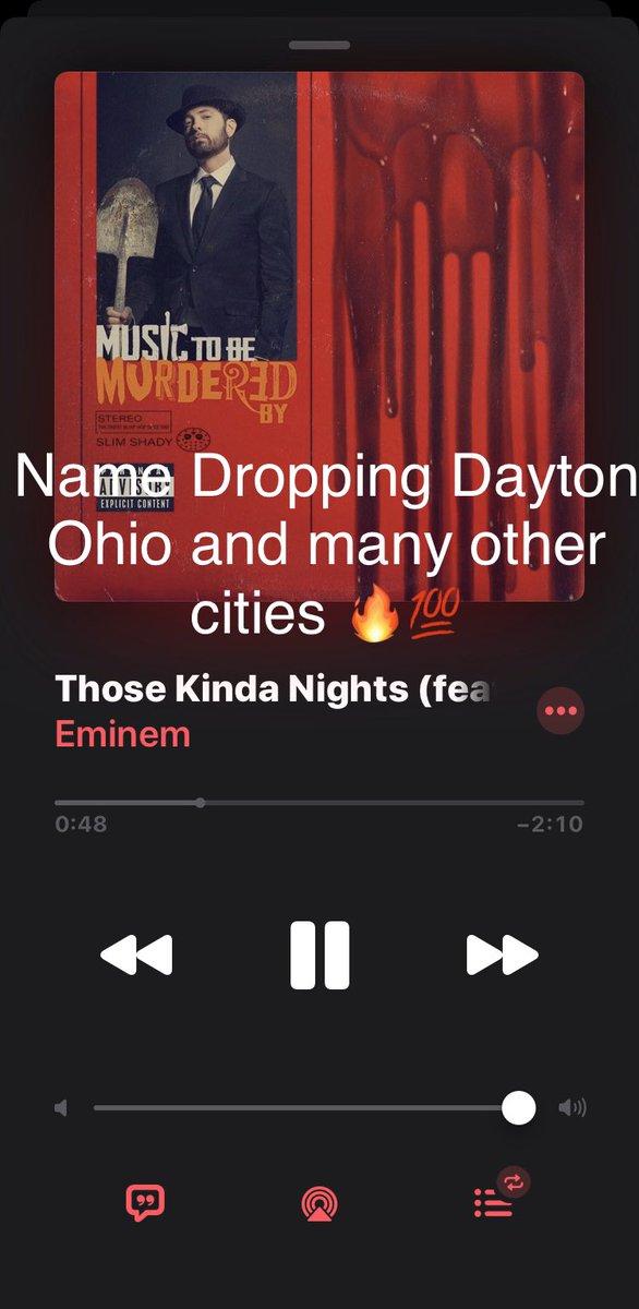 Dayton Ohio . #daytonohio #937 #eminem #musictobemurderedby #neweminem #ohio #toledoohio #cincinnati #cleveland #bengals #shadybaby #marshallmathers #hit #f4follow #f4f @ShadyFansite @EmSlimShadyNews @Eminem @eminemchartpic.twitter.com/VOf0HQP46q