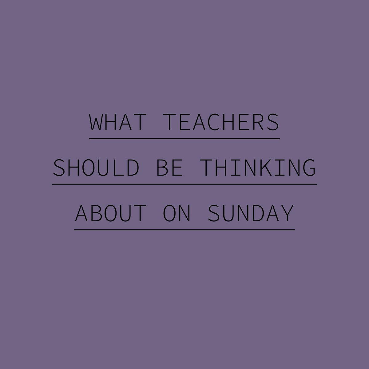 What Teachers Should Be Thinking About on Sunday jonharper.blog/2019/09/09/wha… #SundayMotivation