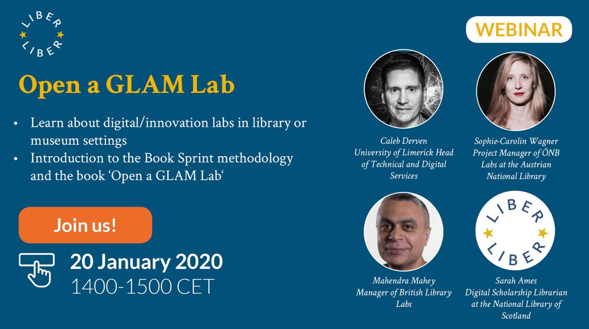 The clock is ticking! Our webinar on opening up your very own #GLAM Lab is tomorrow! But don't worry, it's not too late, register today! https://www.anymeeting.com/AccountManager/RegEv.aspx?PIID=EE51D784834639… #DigitalHumanities pic.twitter.com/I3yuOLurMP
