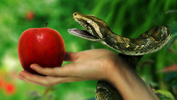 A very loving father has a 6,000 yrs old grudge with his children over an apple.
