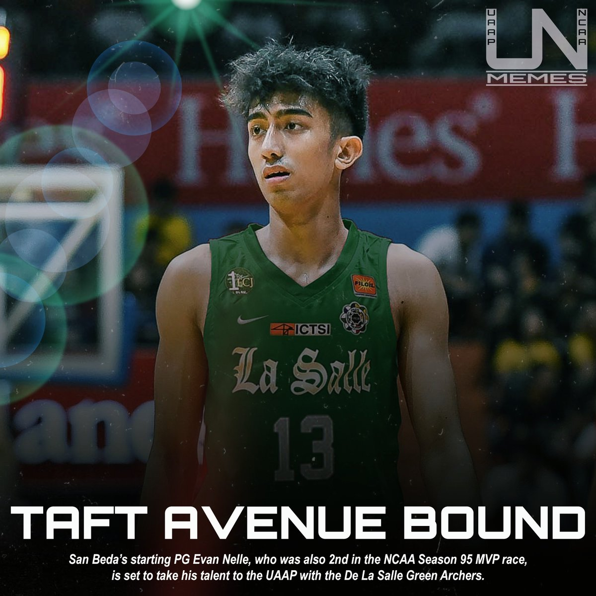 .@Evan_Nelle is set to transfer to the UAAP with the DLSU Green Archers.   REVERSE BOLICK move from the young star. <br>http://pic.twitter.com/xDtuSWp0oI