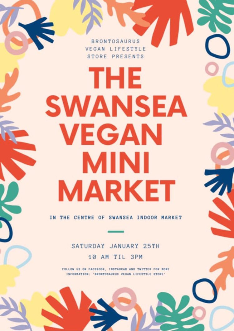 1/2:   There's less than a week until the #Swansea #Vegan Mini Market returns to @swanseamarket for its @veganuary special &, wowzas, do we have a line up for you!   Join us, 10 til 3 on Sat, as we turn the centre of the market into a vegan haven with the help of our friends: