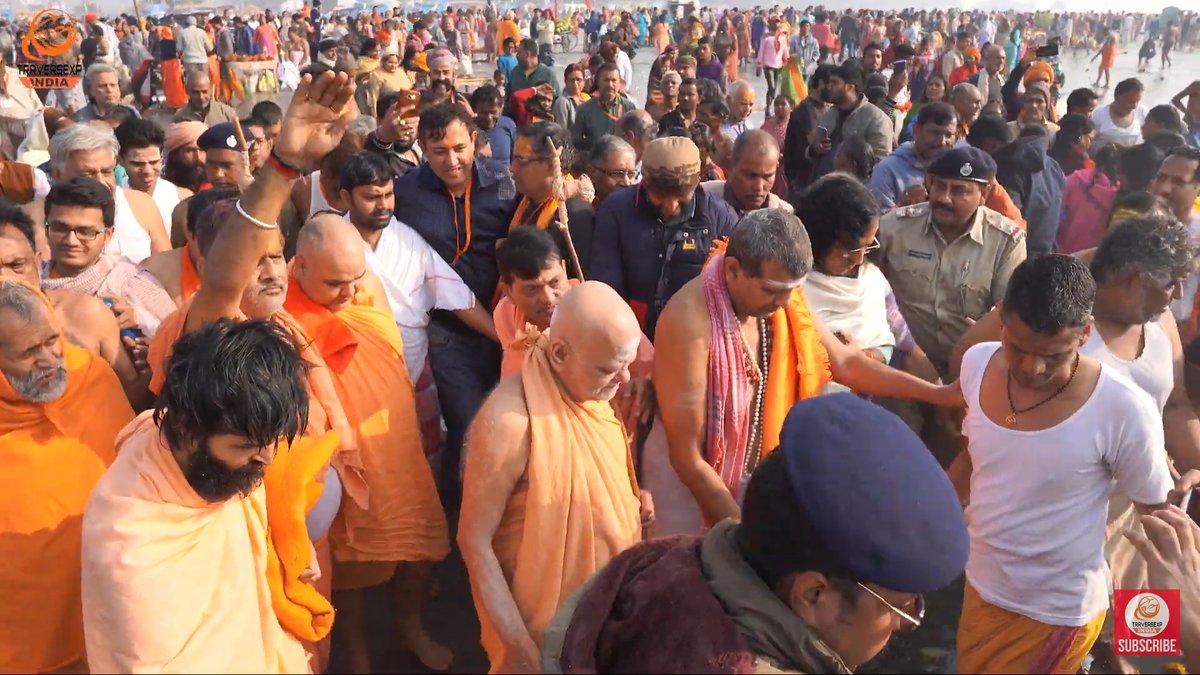 "Govardhan Math on Twitter: ""Pujya Puri Shankaracharya ji at the Gangasagar  Mela 2020. #InPictures… """