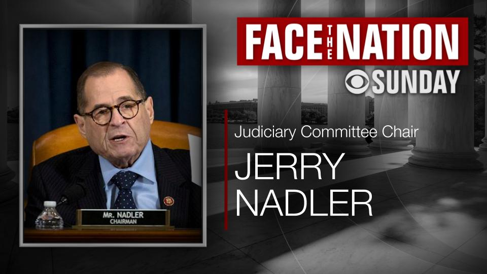 TODAY: We discuss the latest on the  #ImpeachmentTrial with one of the impeachment managers on the case: @RepJerryNadler  📺 On TV, radio, and streaming online at https://cbsn.ws/36dmcgp , don't miss @FaceTheNation this morning https://cbsn.ws/2sHAMyU