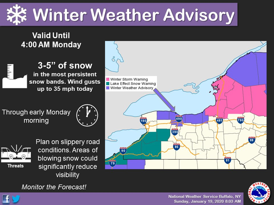 NWS issues Winter Weather Advisory for snowy Saturday