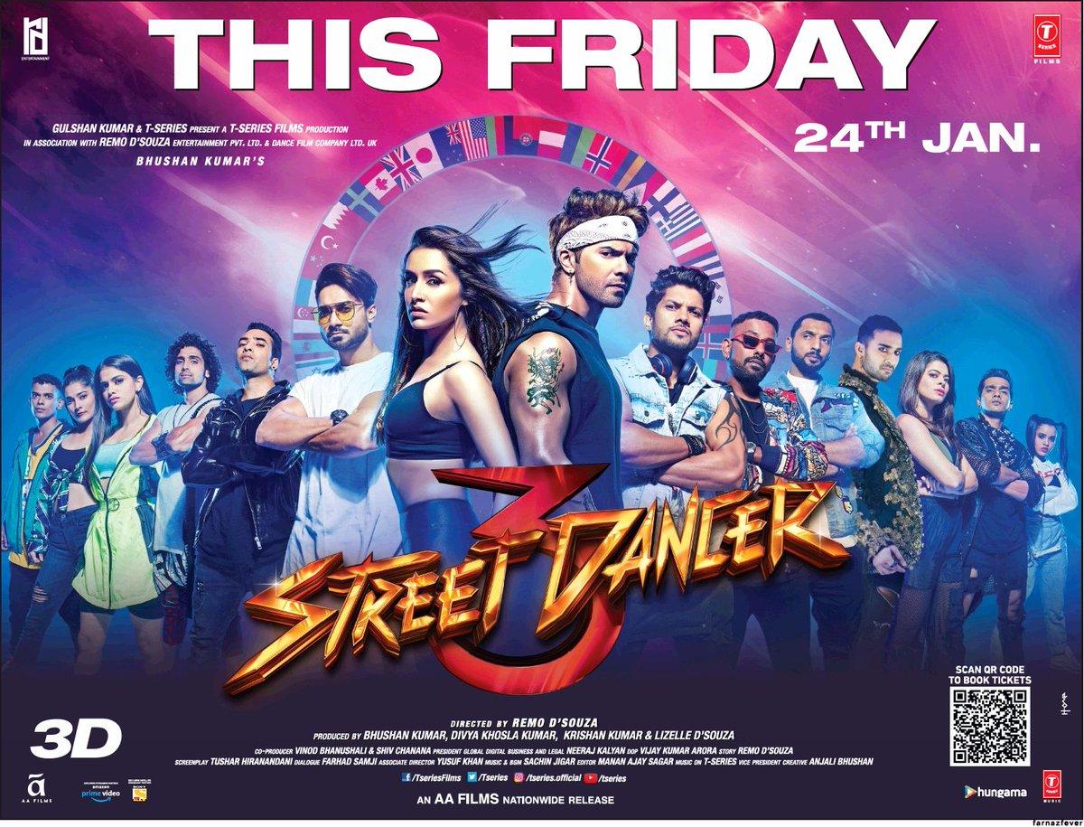#StreetDancer3D In theatres this friday  @Varun_dvn @ShraddhaKapoor @remodsouzapic.twitter.com/AOyuDpeG06