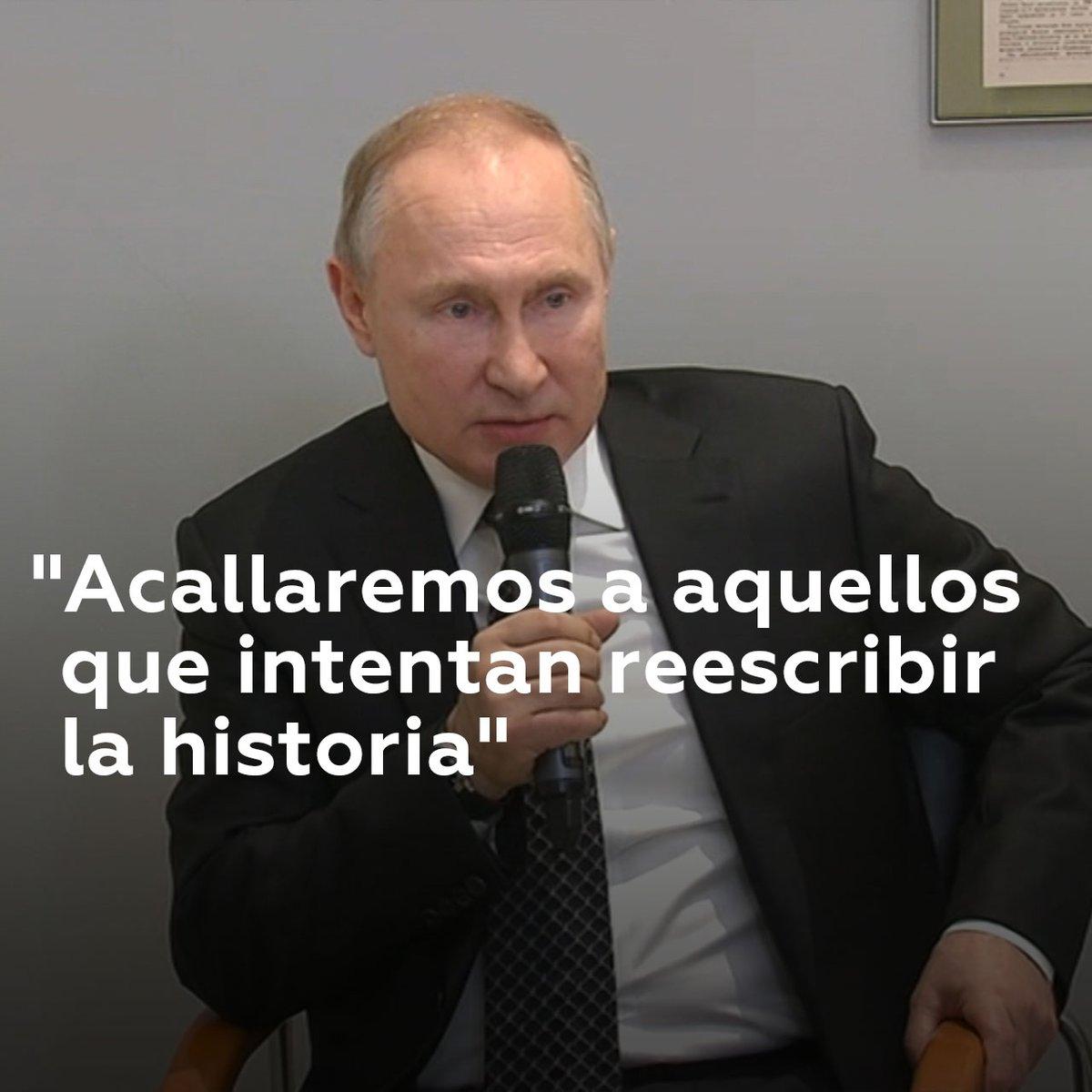 """Putin: """"Rusia no permitirá borrar la memoria de la Gran Guerra Patria""""  Vladímir Putin ha reiterado sus planes de inaugurar el archivo de documentos históricos, videos y materiales fotográficos sobre la II GM, para acabar con los intentos de reescribir la historia"""