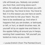 Image for the Tweet beginning: A word from Louise Erdrich: