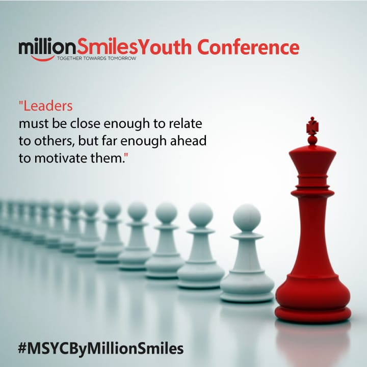 """Leadership is not about titles, positions or flowcharts. It is about one life influencing another."" Are you ready for the Mega Event! #MSYCByMillionSmiles <br>http://pic.twitter.com/cldDzyWh07"