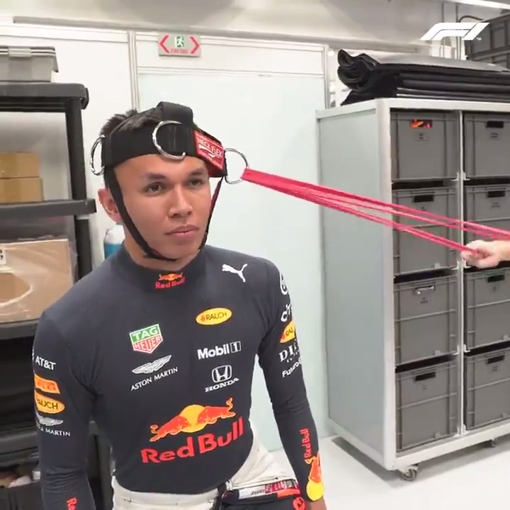 An #F1 driver's preparation goes way beyond just a few stretches 🤯  Go behind the scenes with @Alex_Albon at Interlagos to get a glimpse into his racing life 👀