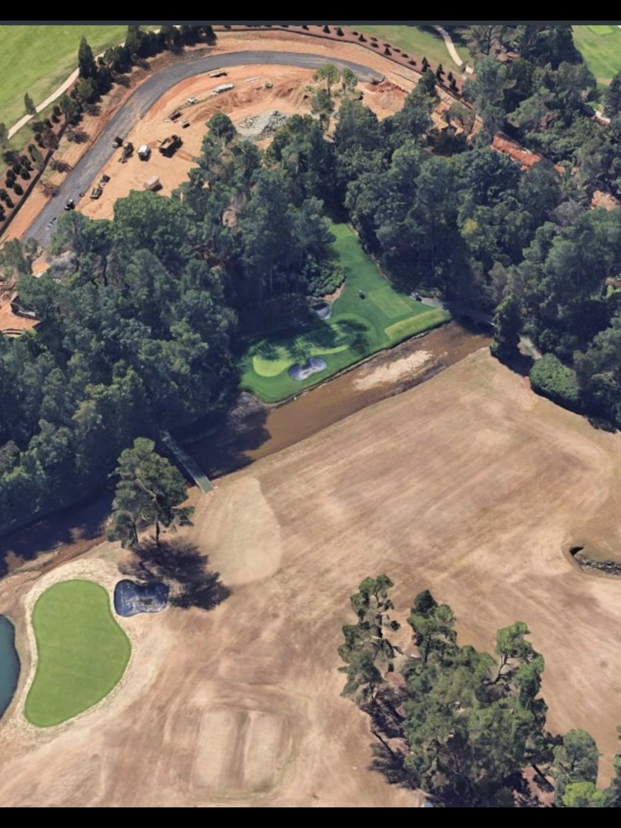 Is Augusta National's famous 13th getting a new back tee for this years Masters ? ... or is it just the new road round the course? Interesting 🤔 #kenonthecourse