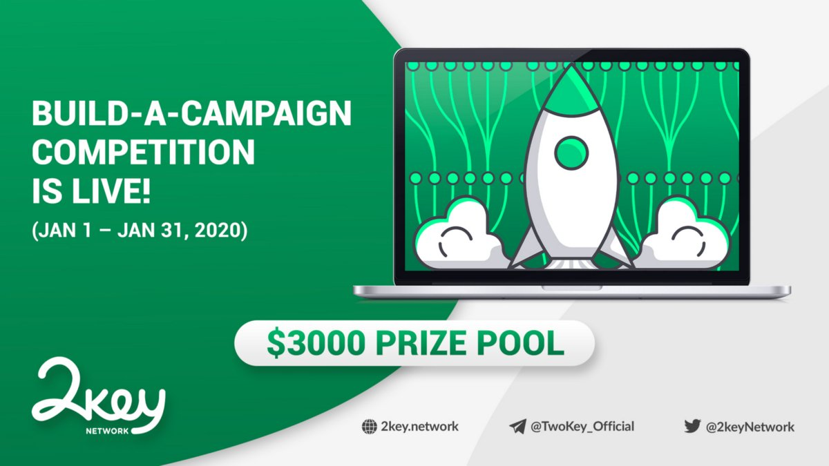 Only 12 days left for @2keyNetwork's Build-A-Campaign competition!  $3,000 in prizes plus 2key merchandise. #contest #contestalert #2keyContest2020 #Smartlink https://buff.ly/3apqS5V