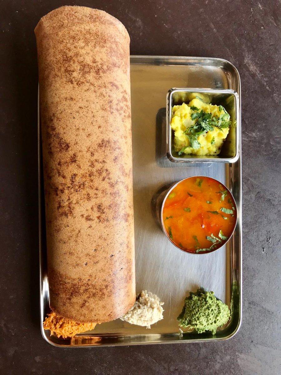 Dosa simply made of a nutritious millet- Raagi.Raagi Plain or Raagi Masala at Carnatic Cafe....#raagi #raagidosa #healthy #healthyfood #foodie #foodnetwork #foods #foodtalkindia #foodlove #delicious #foods #foodphotography #foodblogger #foodblog #foody #carnaticcafe