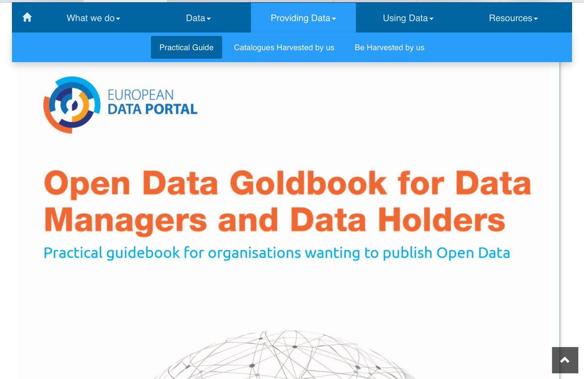 The European Open Data Portal publishes a guide for data donors! @EU_DataPortal https://www.europeandataportal.eu/en/providing-data/goldbook… #digitalhumanities #OpenData #EUpic.twitter.com/bJZ0hXYKkL