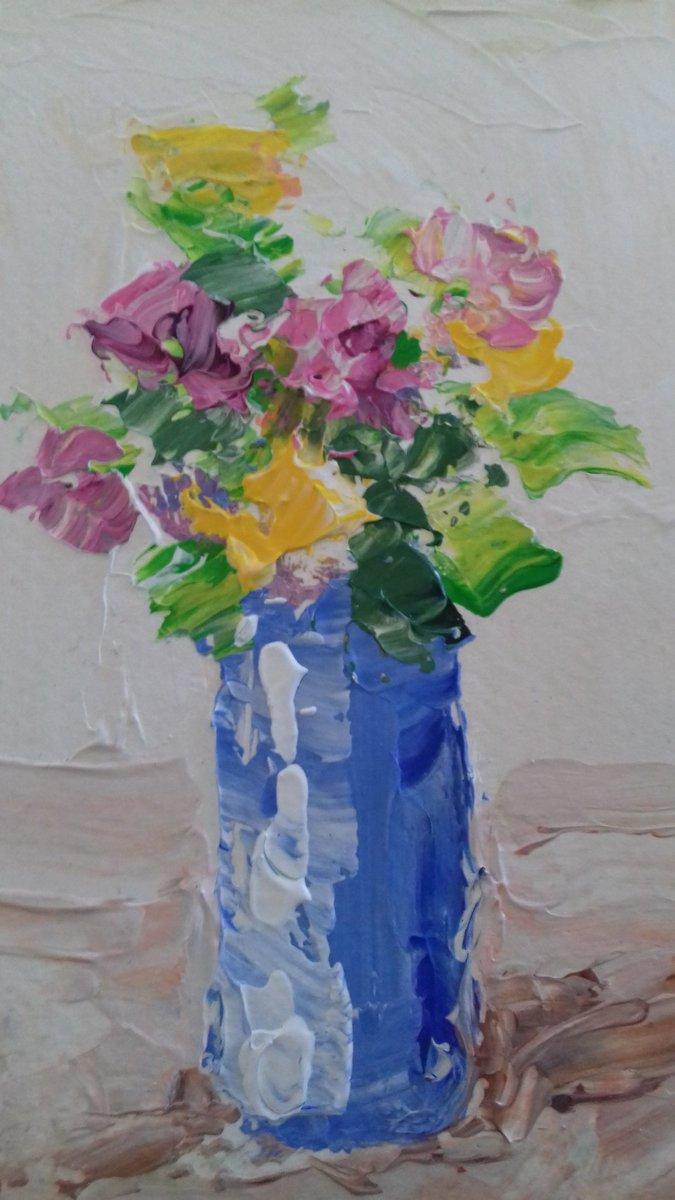 FLOWERS BY VILIM TOPLAK #Oggi #artists #ArteYArt  #arte #art #paintings  #painting