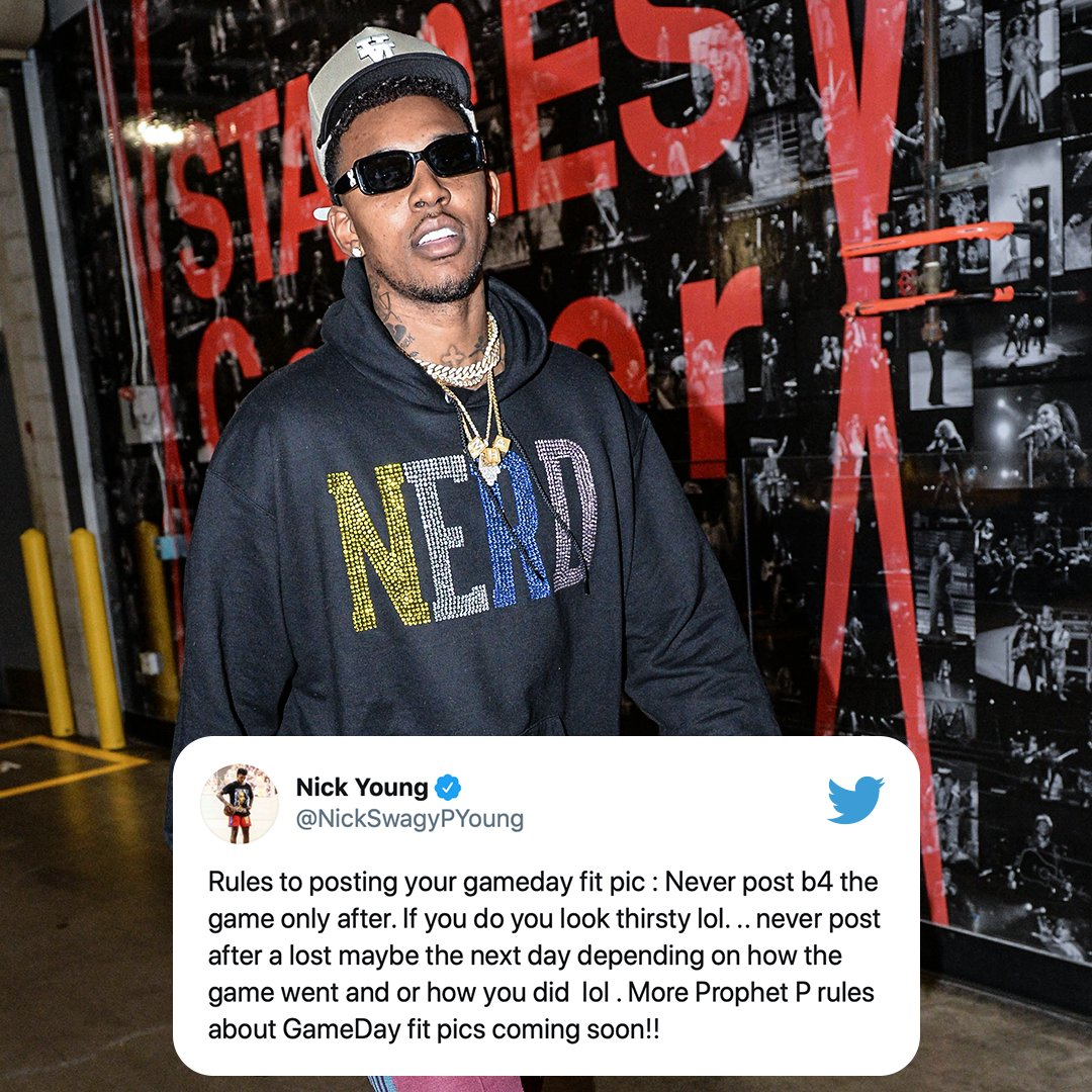 A game day fit lesson from Swaggy P 😅  (via @NickSwagyPYoung)