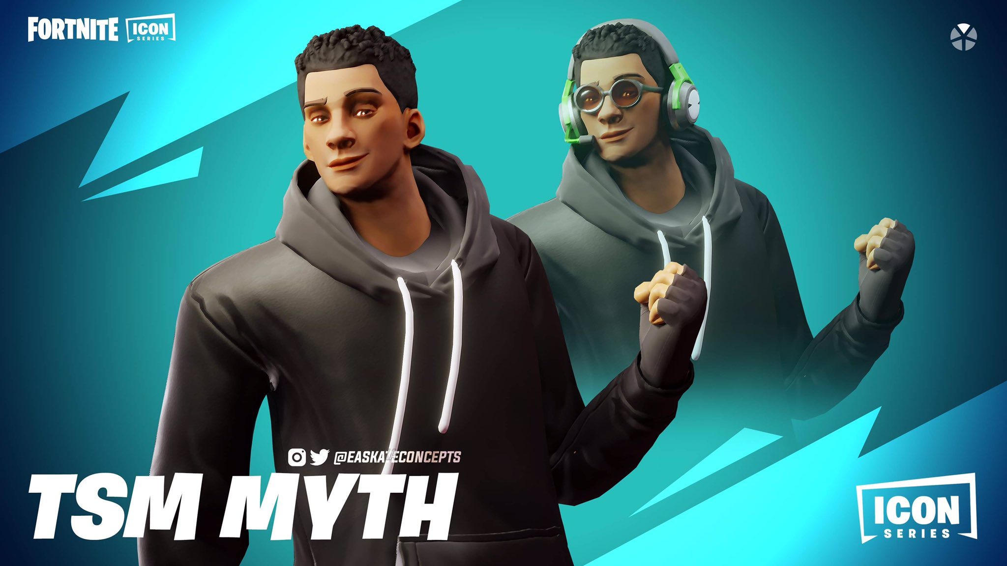 Ea On Twitter Fortnite Icon Series Tsm Myth Concept Introducing Myth The King Of Fall Damage And A Bonafide Fortnite Icon This Is A Skin I Wanted To Make Since Recreating Daequan