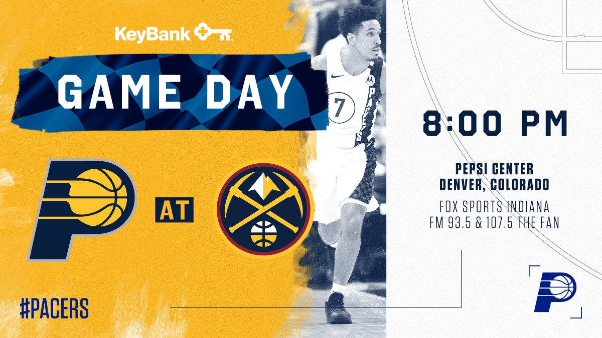 Tipping off a five-game road trip in the Mile High City   🆚: @nuggets 📍: Denver, CO 🕖: 8:00 p.m. ET 📺: @FSIndiana  📻: @1075thefan 📲: http://Pacers.com/App