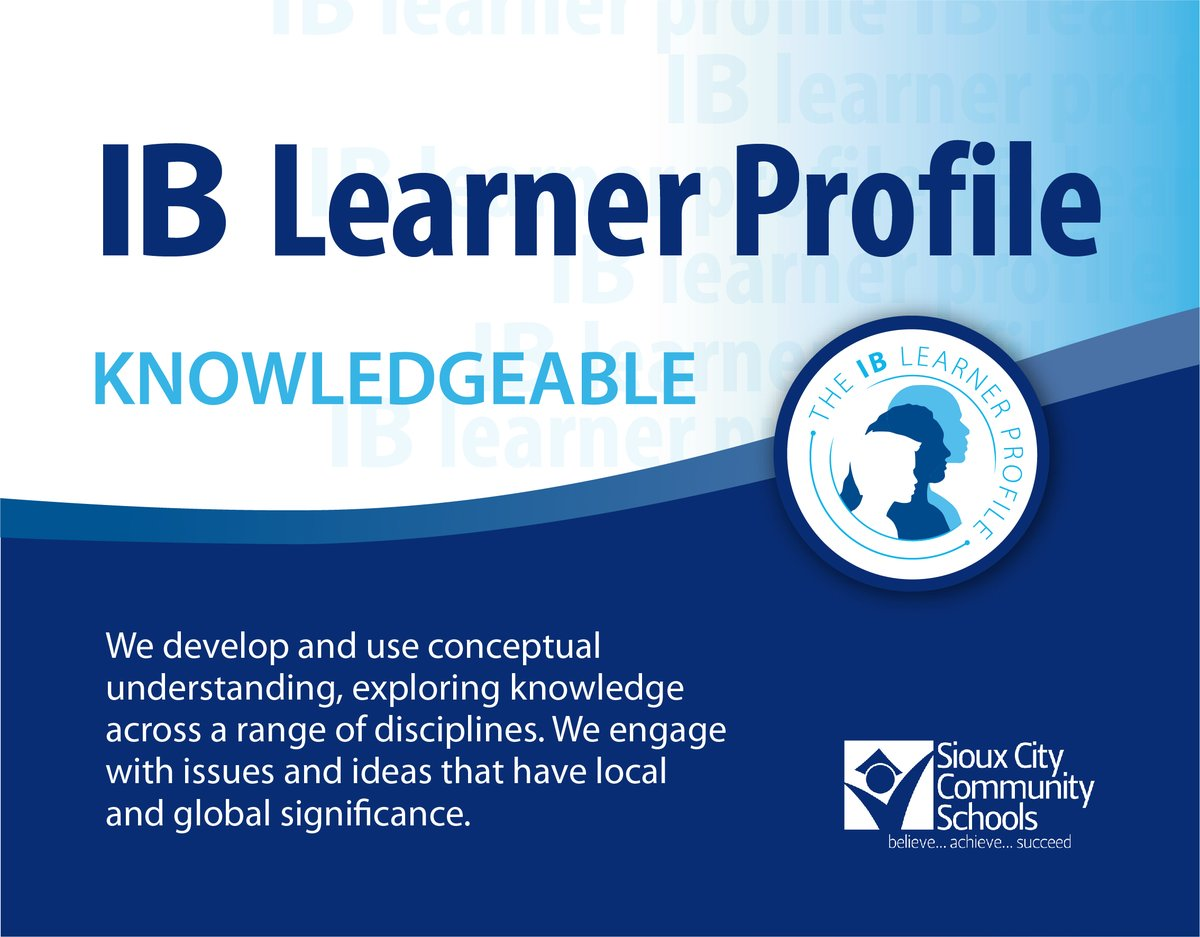 #SCCSD has 7 schools on the journey to become International Baccalaureate (IB) World Schools. The aim of IB schools is to develop internationally minded people who help create a better world. IB schools focus on 10 attributes. Here's attribute 2. https://bit.ly/380zbTXpic.twitter.com/u0Db4HixMH