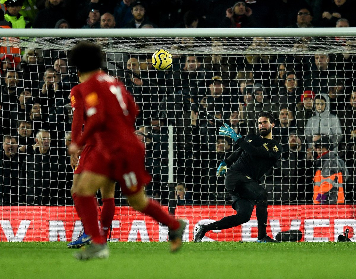 After Alisson provided the assist he ran the full length of the pitch to be the first player to celebrate with Salah 🙌