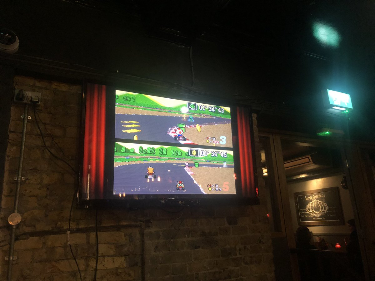 Two generations of #Mariokart on the big screens tonight at @hawkinsforge . #RETROGAMING every Sunday night after the footy! #battersea #clapham #gaming #retro #london #sundayfundaypic.twitter.com/MGytCwdLtb – at Hawkins Forge