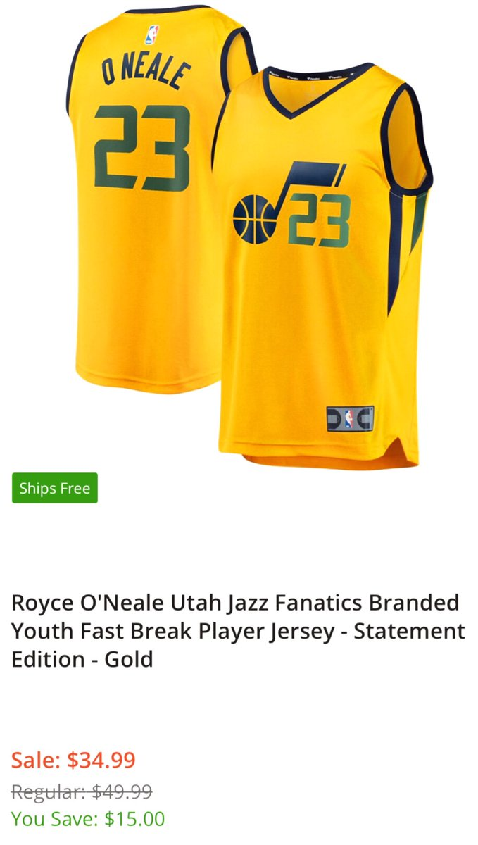 Celebrate the news of @BucketsONeale00 contract extension with a new #UtahJazz Royce jersey 👍 on sale today only for $34.99  💰   LINK  👉  http://shrsl.com/22i1v  #JazzNation #TakeNote #NBA #JazzTwitter #NBATwitter  #RoyceOneale