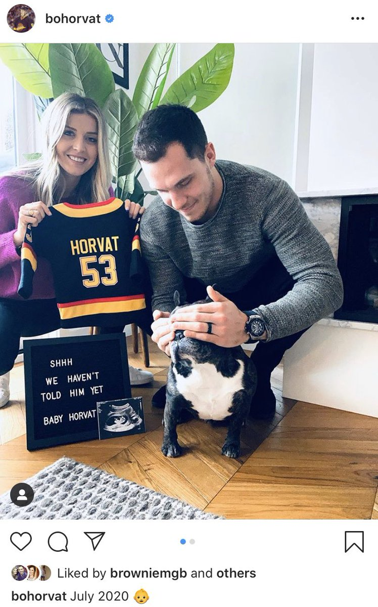 Big news from Bo & Holly Horvat!! Congrats! 🎉