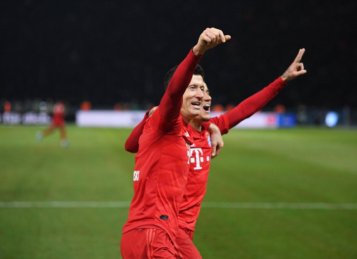 Robert Lewandowski grabs his th league goal this season – joining Timo Werner at the top of the Bundesliga scoring charts.    #UCL