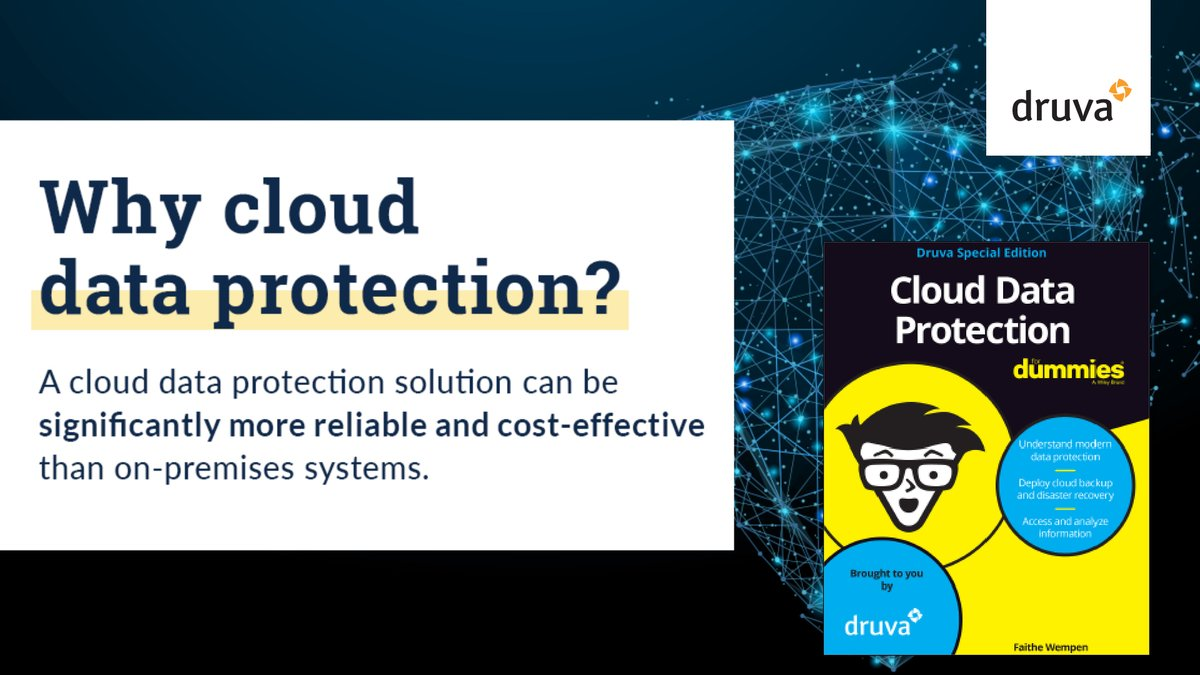 Read @druvainc's special edition ebook, Cloud #Dataprotection for Dummies, for best practices on effectively integrating the #cloud into your long-term technology vision, and how to change your overall view of #data. http://bit.ly/365QMIIpic.twitter.com/V7tlW6M9fB
