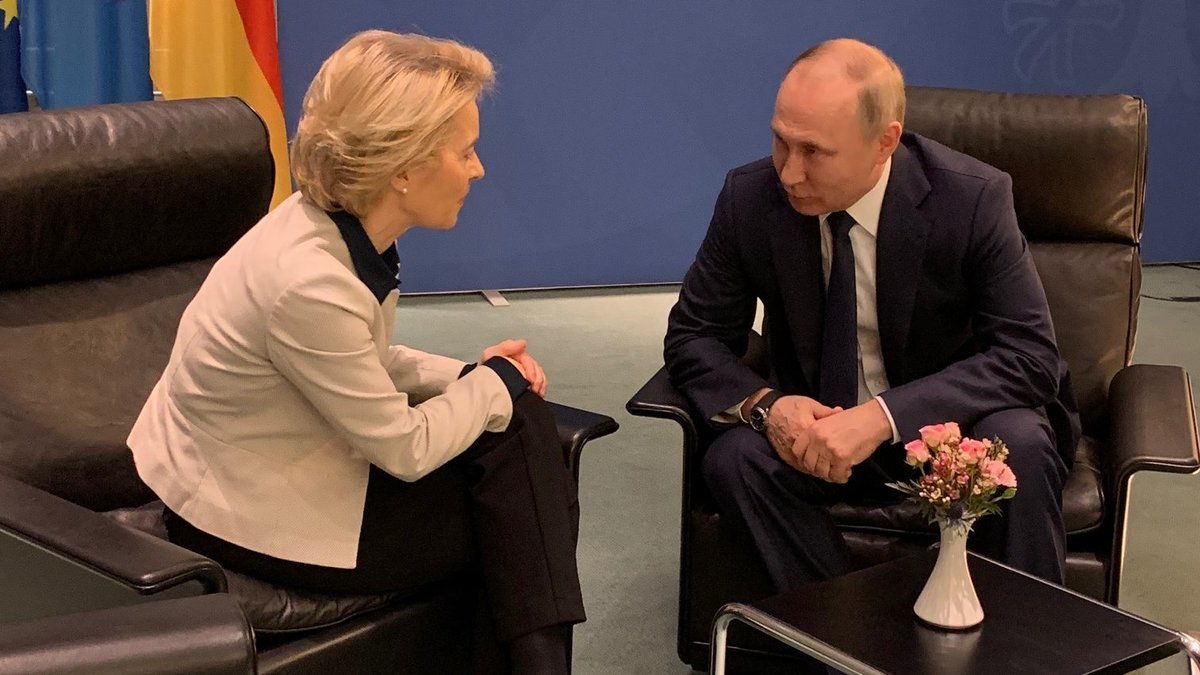 Ursula Von Der Leyen On Twitter Good To Meet With Russian President Vladimir Putin In The Margins Of The Berlinconference We Spoke About The Ukraine Eu Russia Trilateral Gas Agreement Via Ukraine Https T Co Rnkrsytqfl