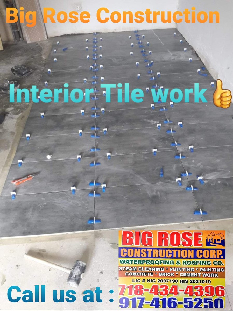 Big Rose Construction Interior Tile project installed new interior sramic tiles. Call Raja Basharat from Big Rose Construction to get a free estimate at 9174165250. Visit our website http://BigRoseConstruction.com  and Facebook page for more information.pic.twitter.com/hACtxG5J8I