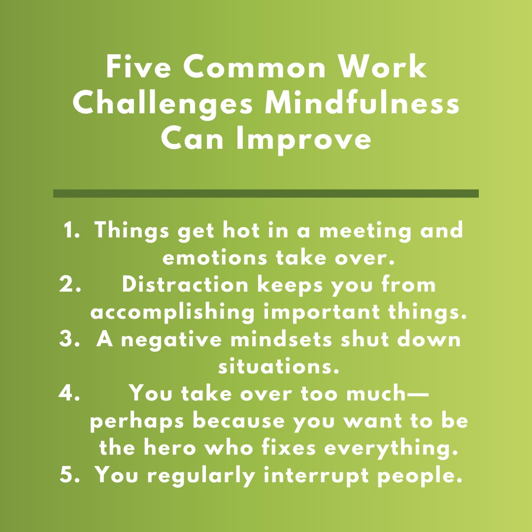 When things get tough at work, mindfulness can be the cure. Here are five common work challenges that can be solved through mindfulness or meditation: http://ow.ly/uROa50xKpjd.pic.twitter.com/CTjGObhAuB