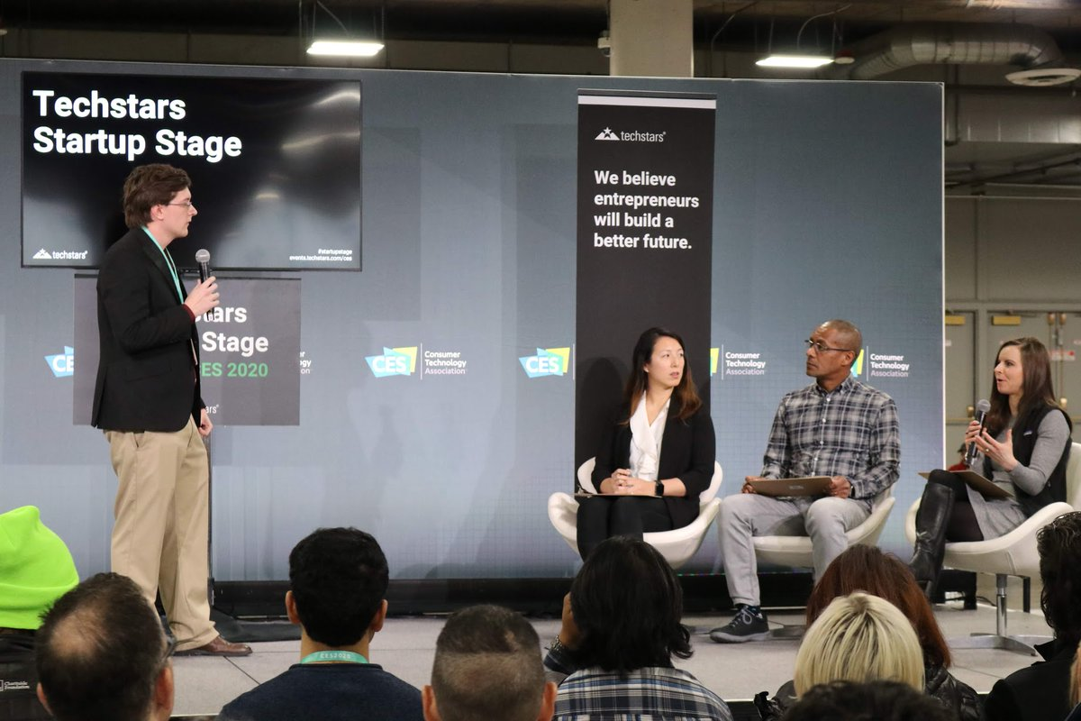 Robert Steward of @caseengineer was one of only a handful of students invited to present on the Techstars Startup Stage at #CES2020. Judges were intrigued by the robotics innovations being develop by his team at Repowered Robotics @cwrulaunchnet @courtneyagraspic.twitter.com/O6Mr81FFoR