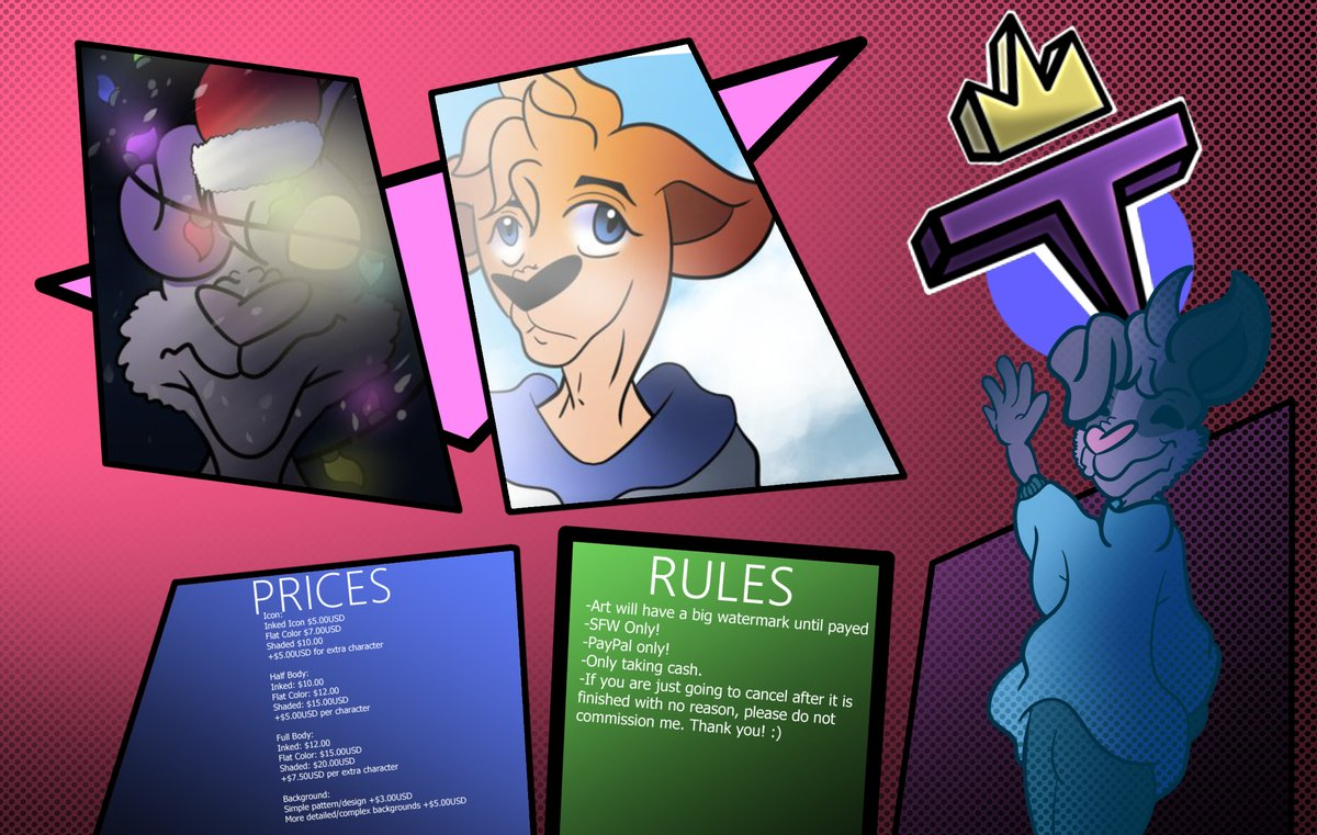 Commissions are opened!  ~With Updated and Affordable Prices!~<br>http://pic.twitter.com/z6ThzwGO5u