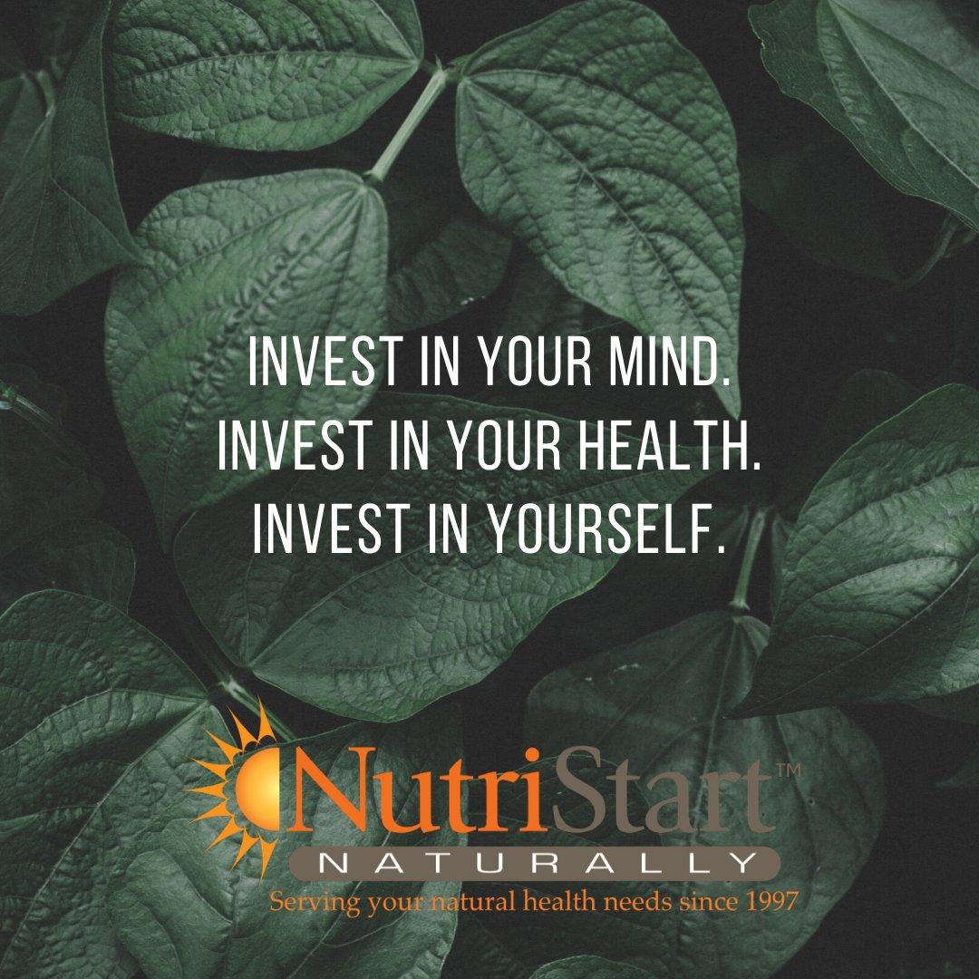 Happy Sunday!  Take some time today to recharge for the week ahead.  #investinyourhealth #NutriStartNaturally #inspiredbynaturepic.twitter.com/dPrBKvTkME