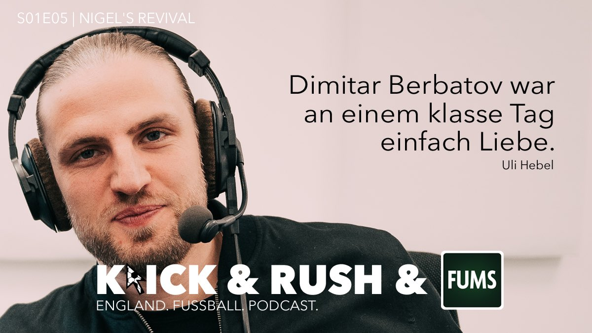 Berbatov ❤️ #KLICKRUSHFUMS ___ Schnell noch die fünfte Folge hören, bevor bald schon die nächste kommt 👉🏼 open.spotify.com/episode/6LDv1R… 🎧