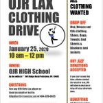 Image for the Tweet beginning: Clothing drive run by the