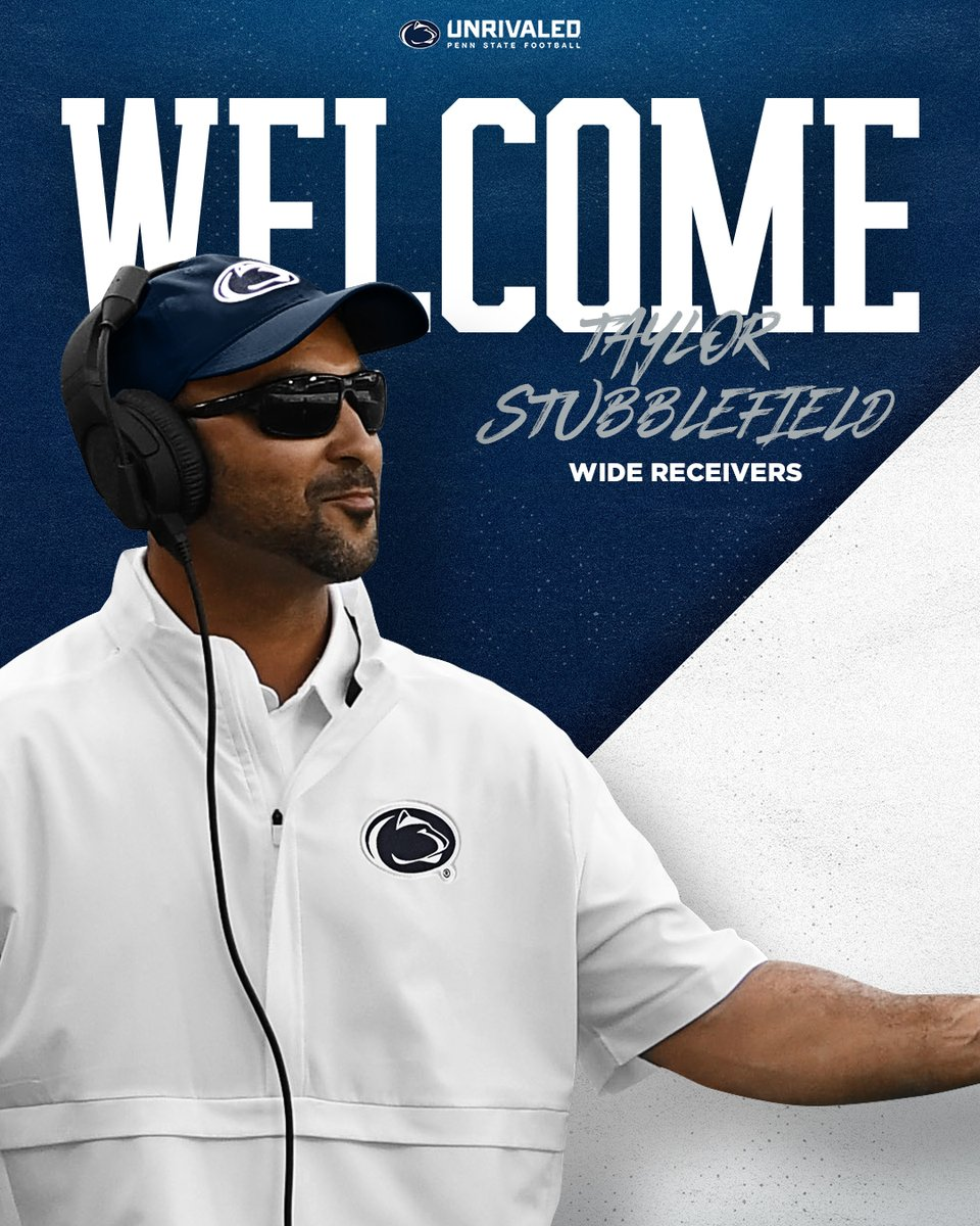 Excited to welcome @CoachStubbs to the #PennState Football family! 🔵⚪️  🔗:   #WeAre