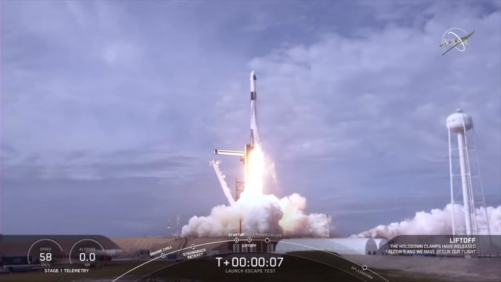 Test complete! Today,  @SpaceX completed its In-Flight Abort Test designed to show the  #CrewDragon spacecraft's capability to safely separate from the rocket in the unlikely event of an inflight emergency:  https://go.nasa.gov/2tovKrz