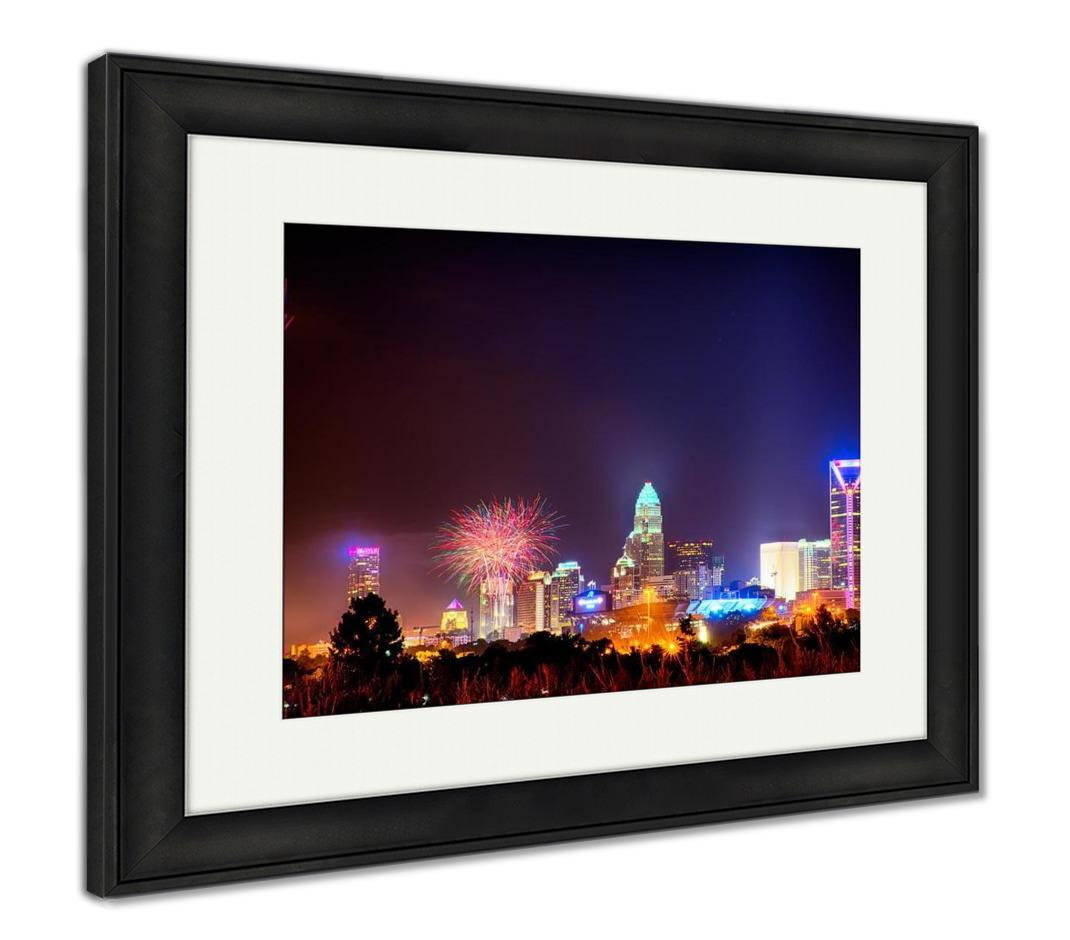 Framed Print, 4th Of July Fireworks Skyshow Charlotte Nc is now available in our shop for only $149.95. Buy it now