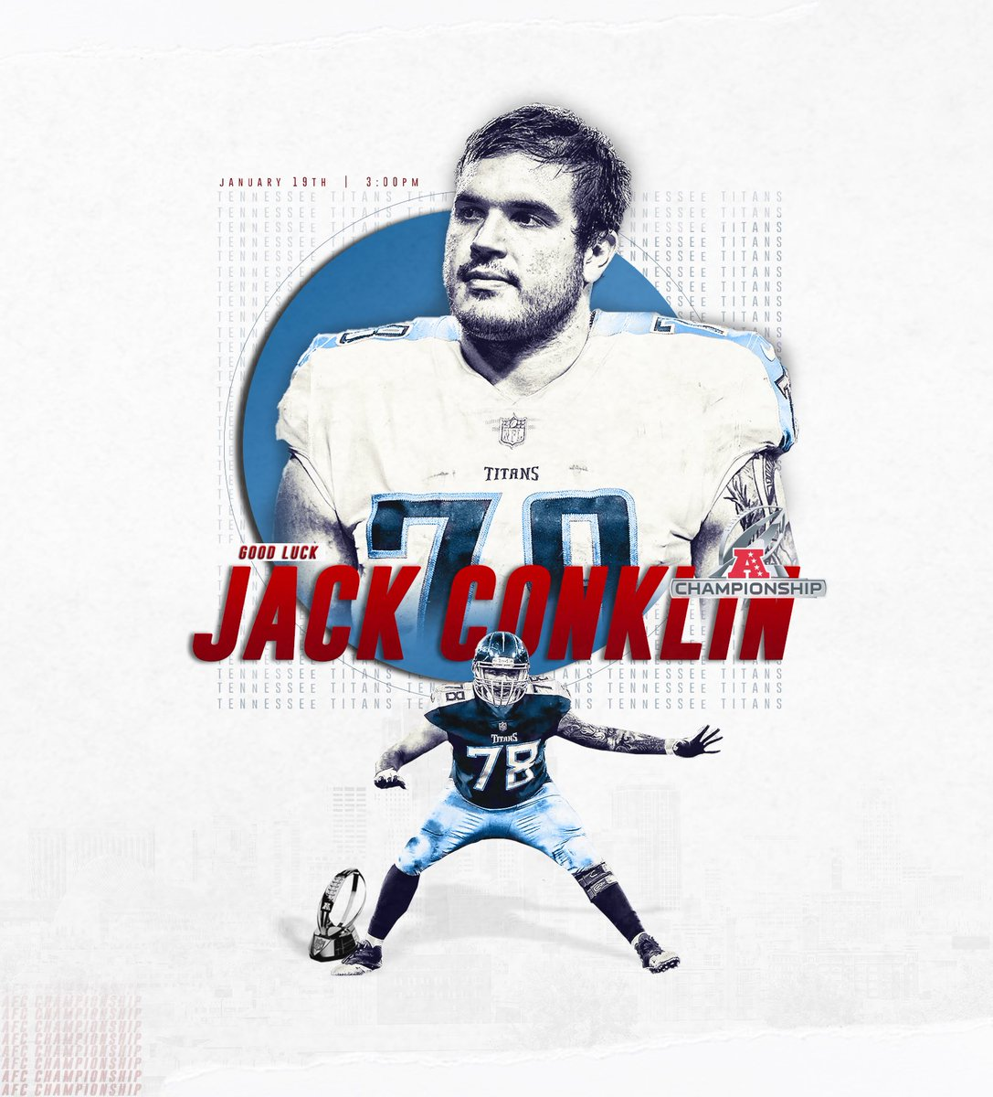 Good luck to our former Spartan, @Jack_Conklin78 in the AFC Championship today! #GoGreen <br>http://pic.twitter.com/SUCrmnoDZg
